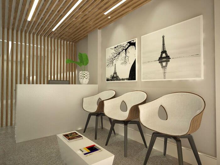 Cadeira para escritório utilizada no ambiente de recepção