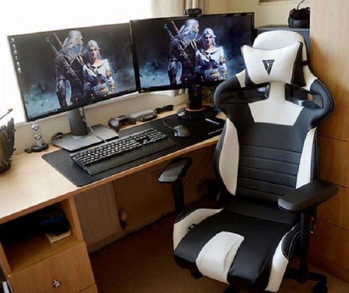 Cadeira gamer apresenta um design especial para acomodar por horas os jogadores