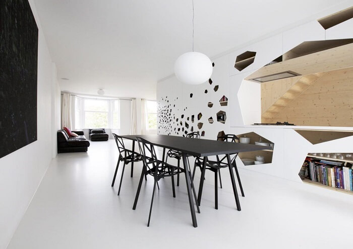 Combine as cores da mesa retangular com as cadeiras