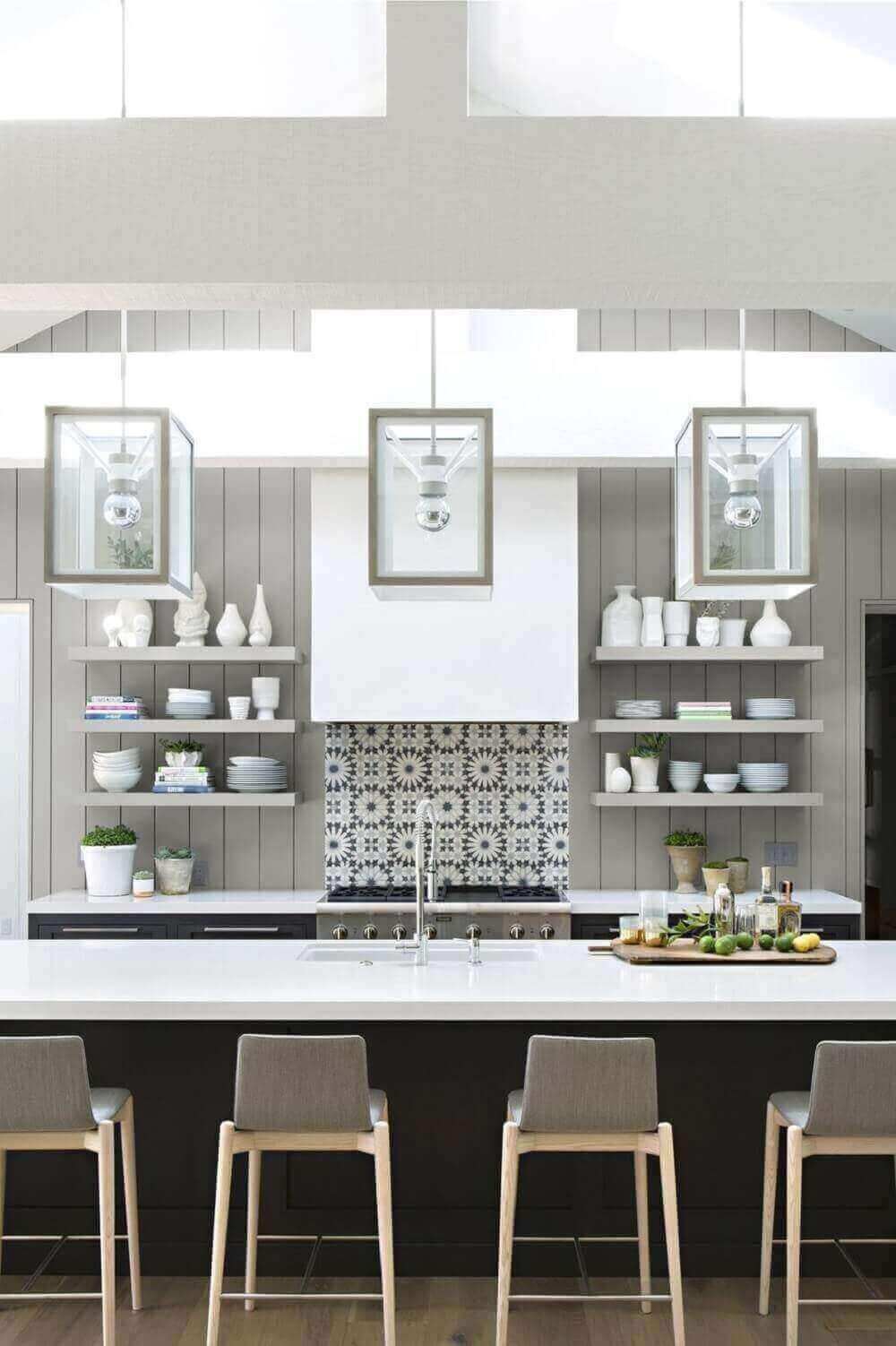 Cozinha moderna com estilo minimalista