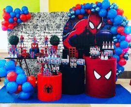 Decoração de festa do Homem Aranha