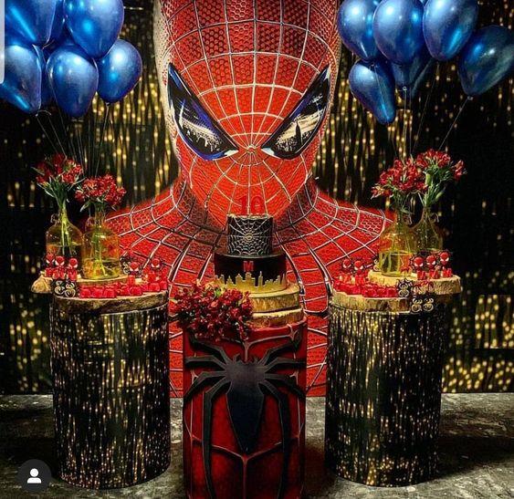 Festa do homem aranha luxuosa