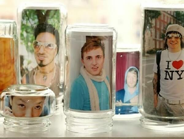 Vidros decorados com fotografia