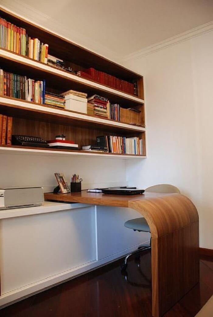 Home office com cadeira para escritório secretária