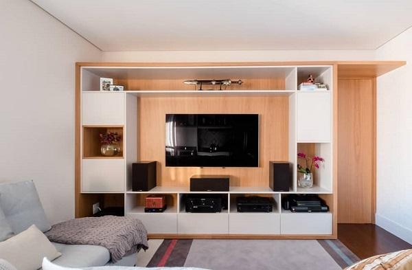 Home para sala decorado madeira
