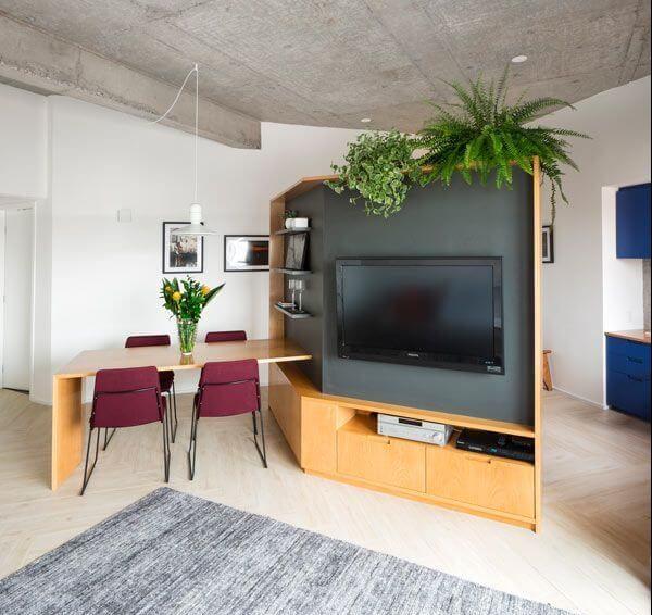 Home para sala - painel para tv com mesa acoplada