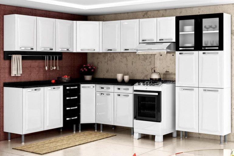 Modelo de armário de canto para cozinha