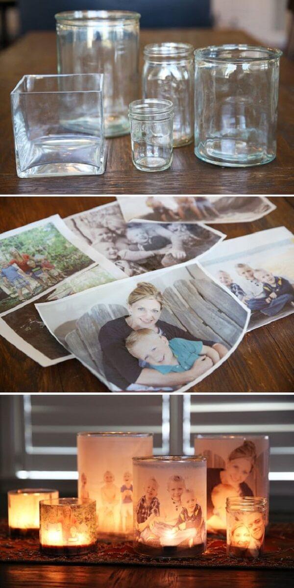 Como decorar vidros com fotografia