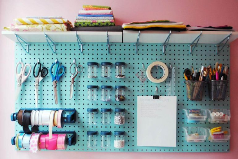 O painel de ferramentas muitas vezes é um elemento necessário no atelier de costura