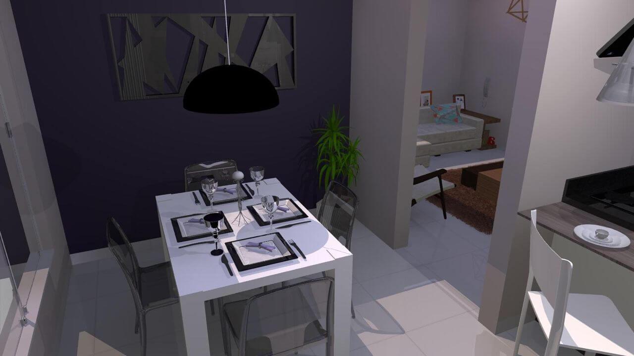Para ambientes pequenos invista em uma mesa retangular 4 lugares