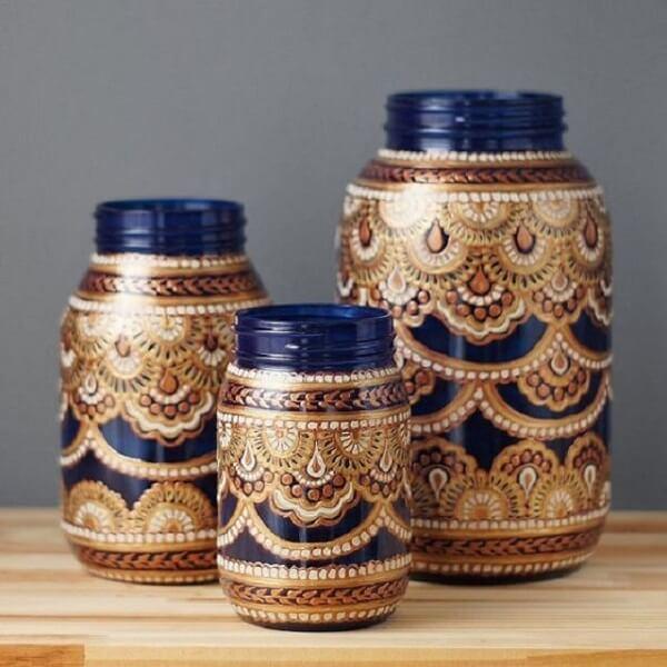 Potes de geleia se transformam em com essa decoração marroquina