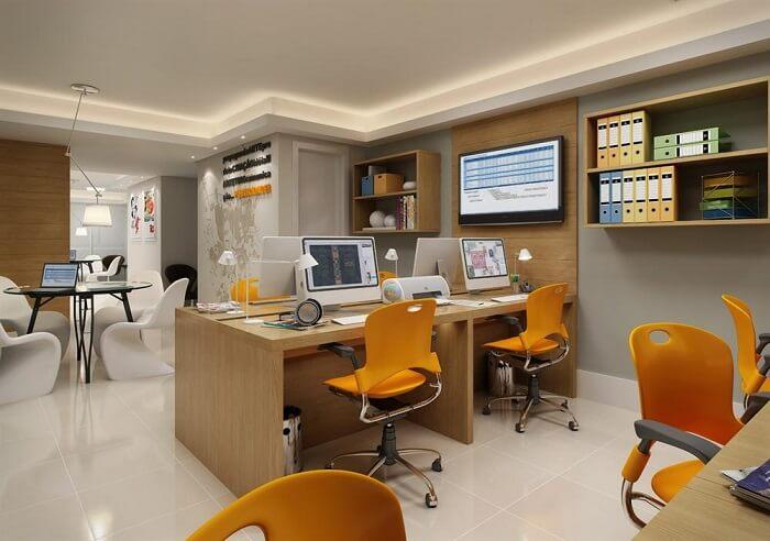 Decore o sala com modelos de cadeira para escritório colorida