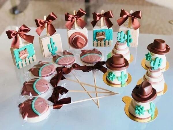 Use doces bem fofos e criativos para festa fazendinha