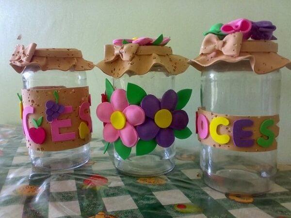 Vidros decorados com material de EVA