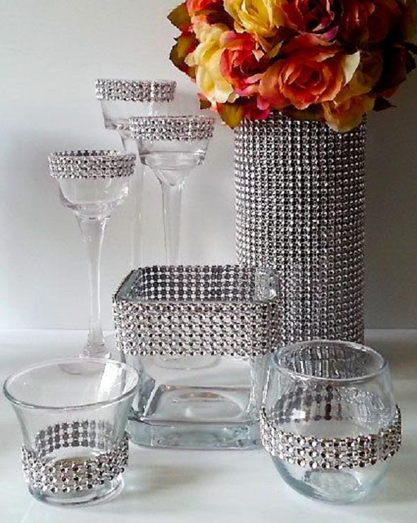 Vidros decorados com strass