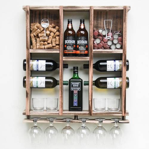 Adega de madeira para vinhos e cervejas