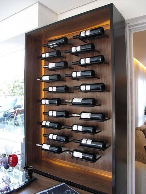 Adega de vinho de madeira