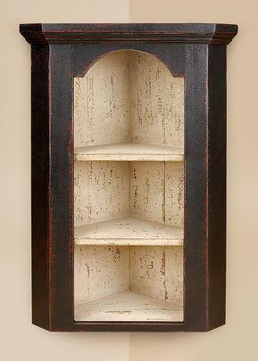 armário de canto - armário clássico com prateleiras