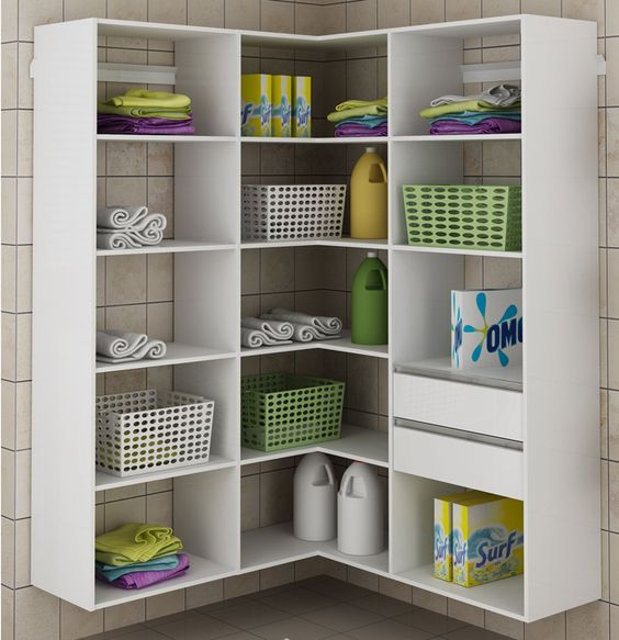 armário de canto - armário de canto para lavanderia