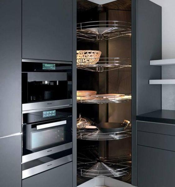 armário de canto - armário de cozinha grande de canto sem portas