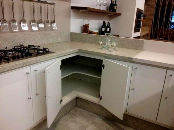 armário de canto - armário de pia de canto branco