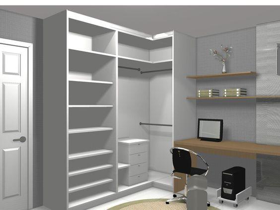 armário de canto - quarto com armário de canto branco