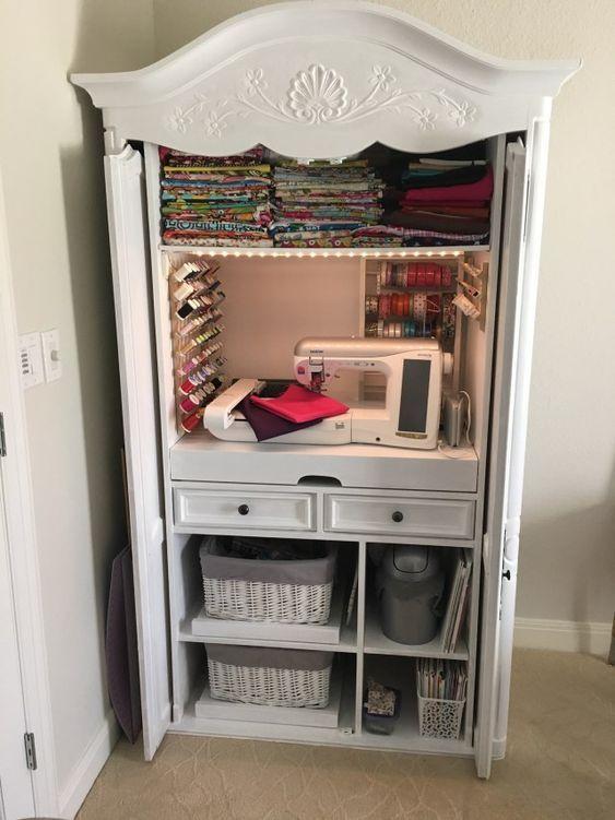 atelier de costura - armário com ateliê de costura