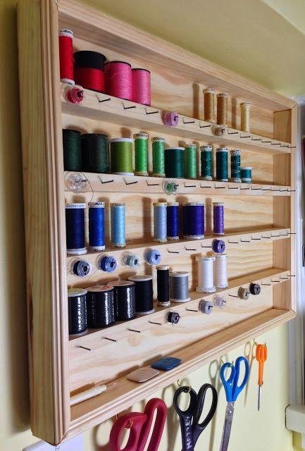atelier de costura - armário de linhas