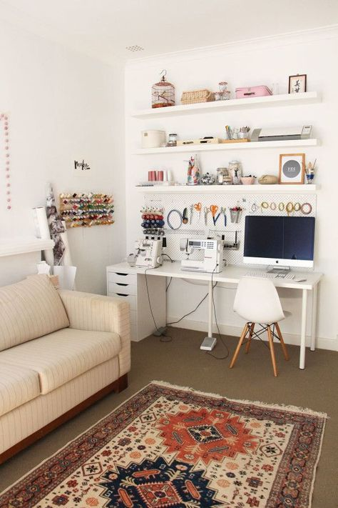 atelier de costura - ateliê de costura em sala de estar