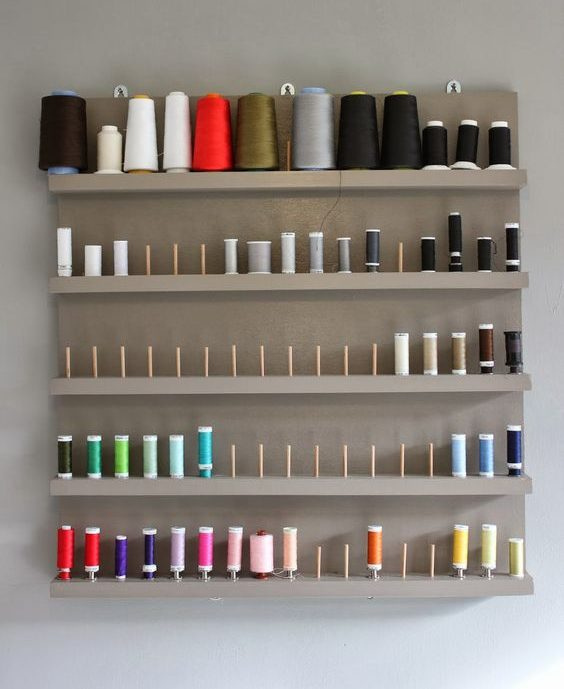 atelier de costura - painel de linhas de costura