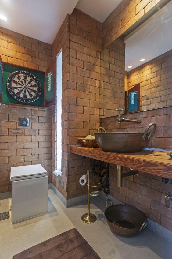 bancada de madeira - bancada de banheiro em madeira simples