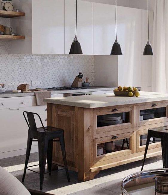 bancada de madeira - bancada de cozinha feita em madeira