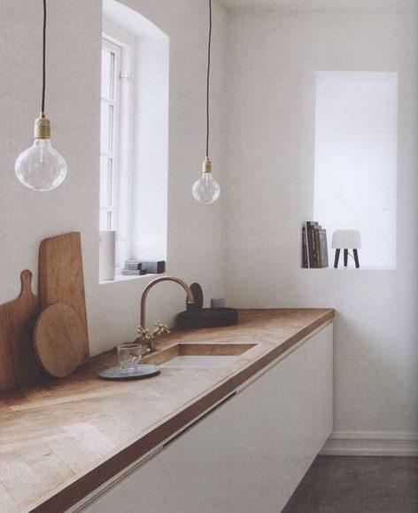 bancada de madeira - bancada de madeira em gabinete de cozinha