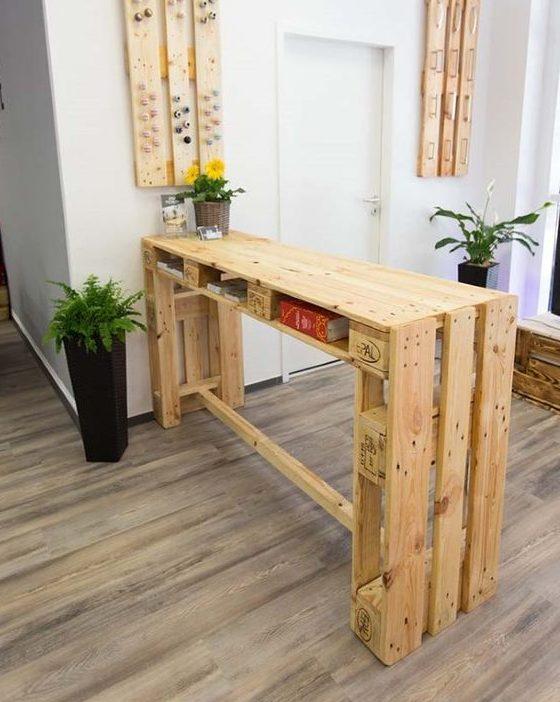 bancada de madeira - bancada de madeira feito em pallet
