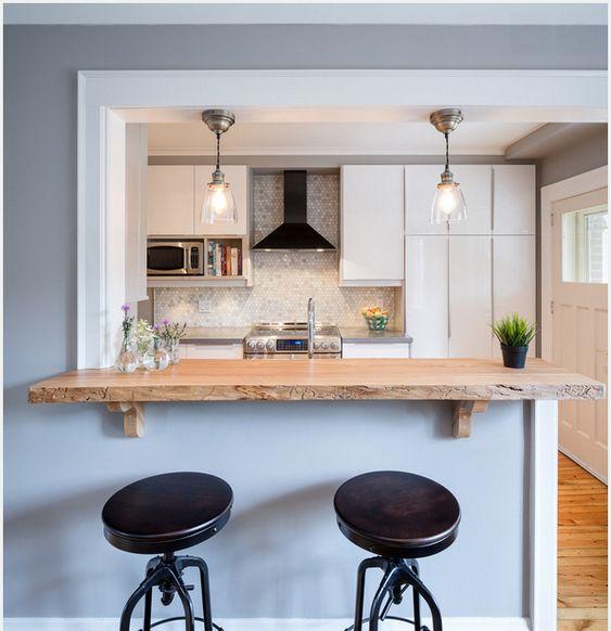 bancada de madeira - bancada de madeira fina em cima de meia parede