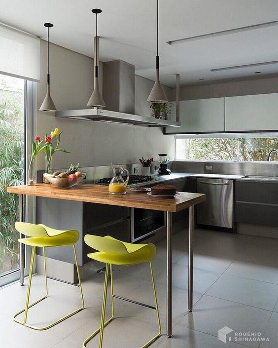 bancada de madeira - bancada de madeira na cozinha