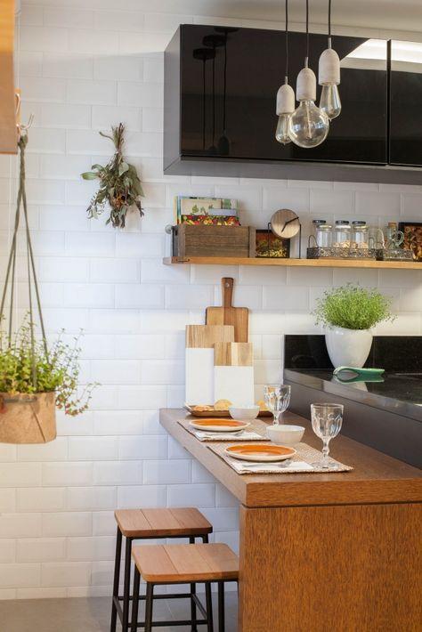 bancada de madeira - bancada de madeira simples como mesa em cozinha