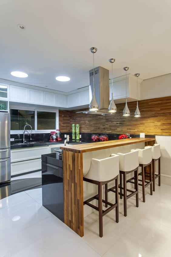 bancada de madeira - bancada de madeira simples utilizada em cozinha