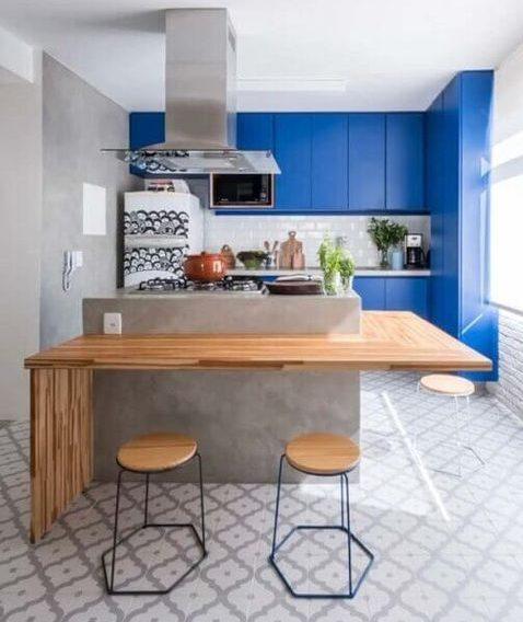 bancada de madeira - bancada de madeira utilizada em cozinha