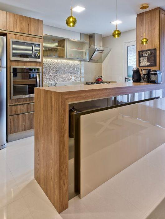bancada de madeira - cozinha com bancada de madeira diferentes elementos