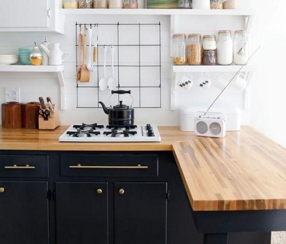 bancada de madeira - gabinete de zoinha com bancada de madeira