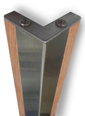 cantoneira - cantoneira de madeira com base de metal