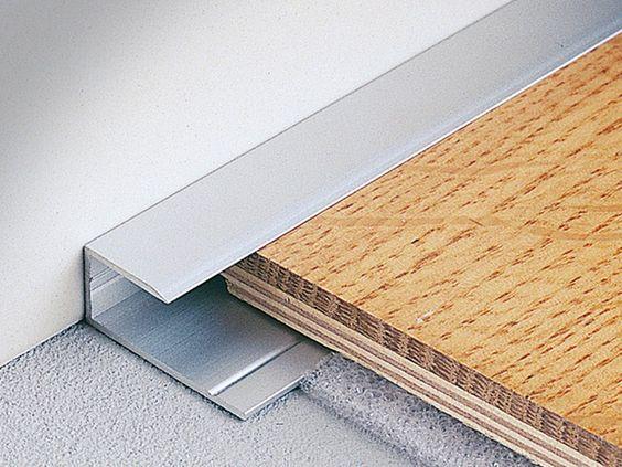 cantoneira - cantoneira de metal simples para piso laminado