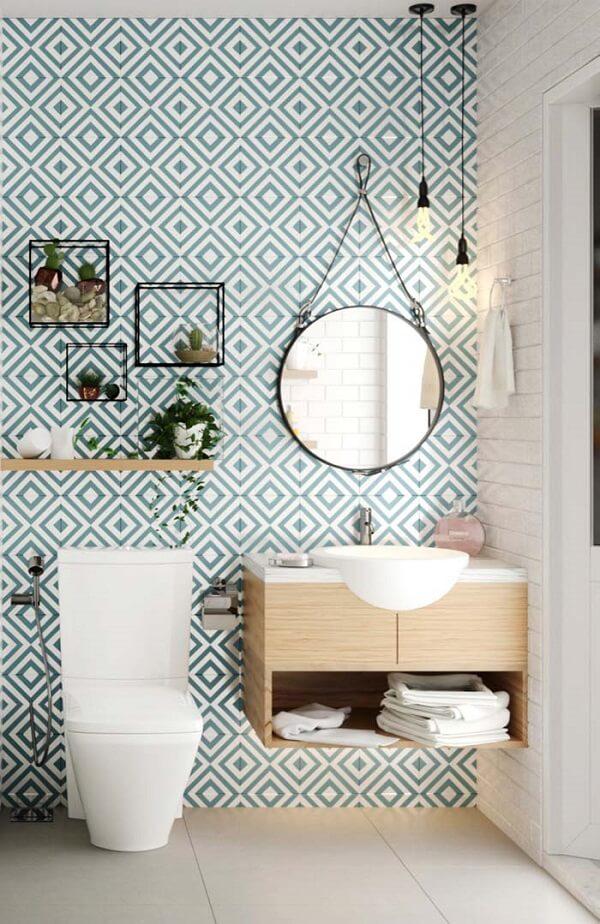 como colar papel de parede fácil banheiro
