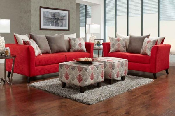 sofás vermelhos