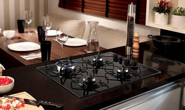 Fogão 4 bocas cooktop brastemp