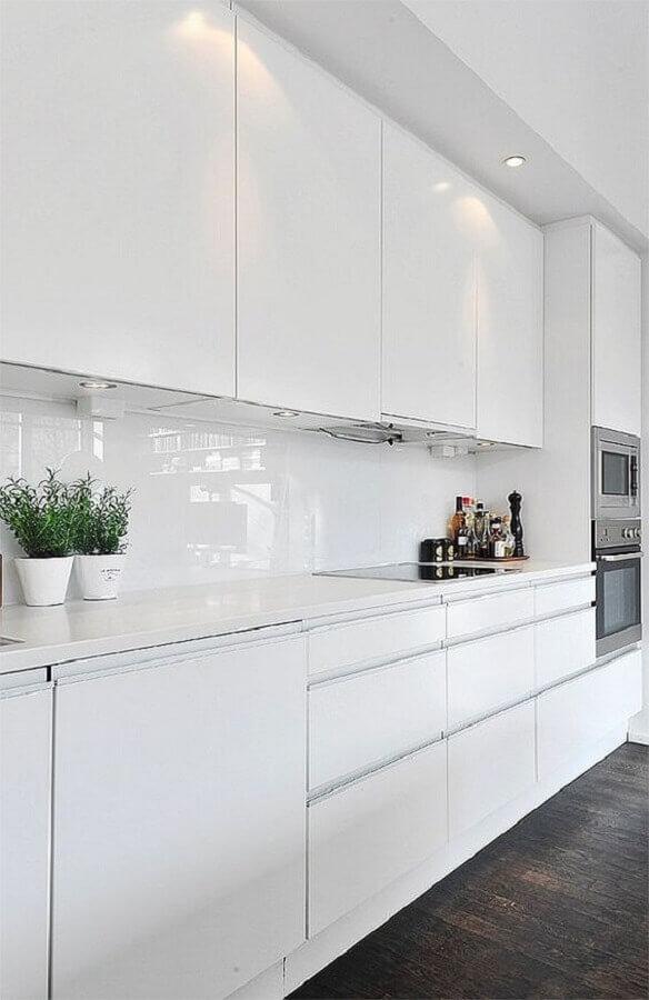 cozinha planejada branca Foto Decoist
