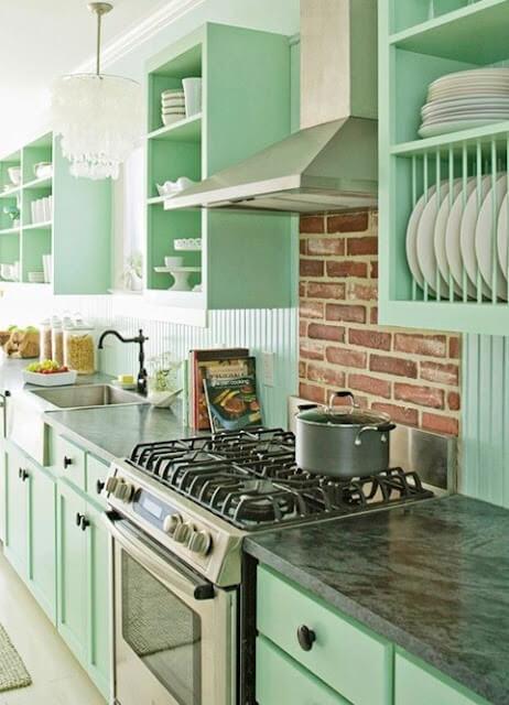 Cozinha fogão 4 bocas de inox