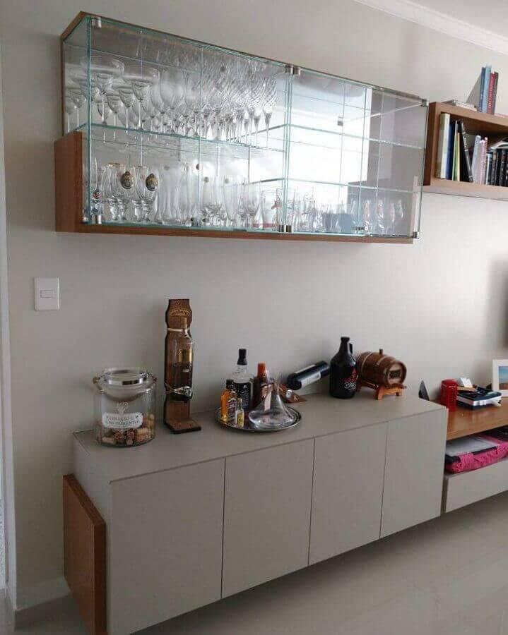 cristaleira moderna suspensa Foto Morale - Galeria de Moveis