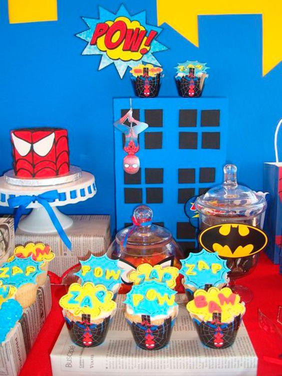 Decoração festa do homem aranha